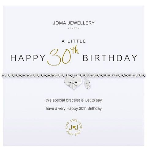 Joma Jewellery - 30th Birthday Bracelet