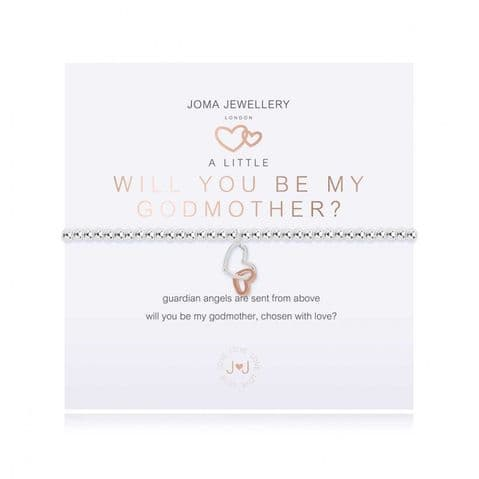 Joma Jewellery - A Little Will You Be My Godmother Bracelet