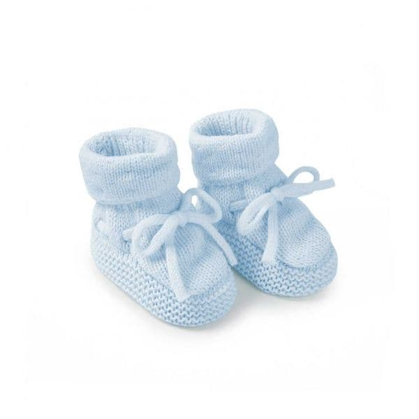 KATIE LOXTON | KNITTED BABY BOOTS | BLUE