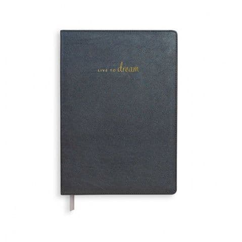 KATIE LOXTON | LIVE TO DREAM NOTEBOOK | BLACK