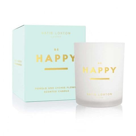 KATIE LOXTON | SENTIMENT CANDLE | BE HAPPY | POMELO AND LYCHEE FLOWER