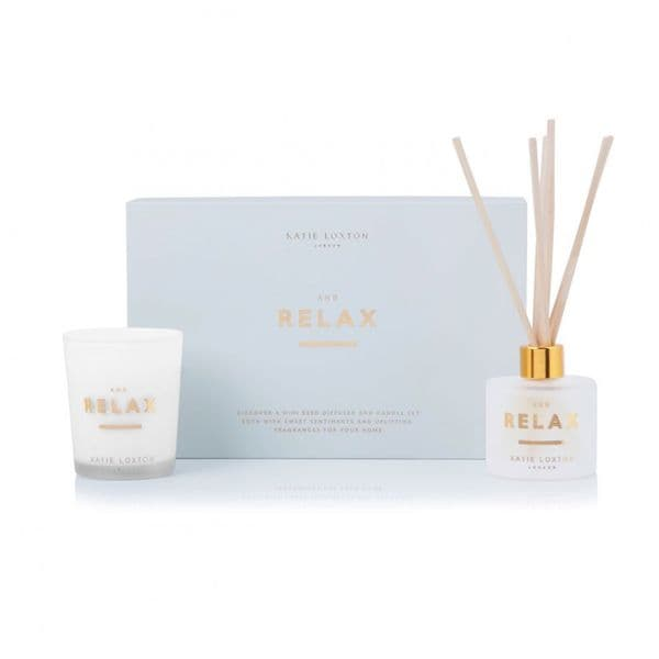 KATIE  LOXTON | SENTIMENT MINI FRAGRANCE SET | AND RELAX | WHITE ORCHID AND SOFT COTTON