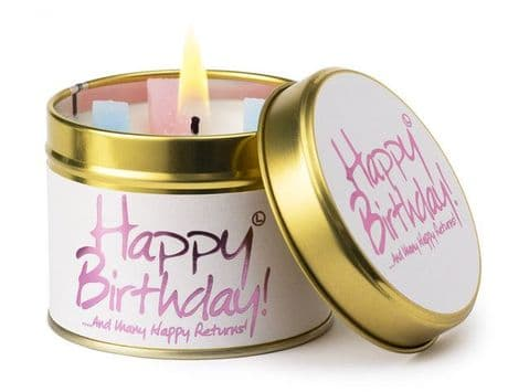 Lily Flame Happy Birthday! Candle