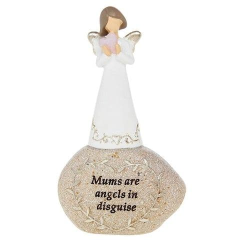 Mums Are Angels in Disguise - Sentiment Stones