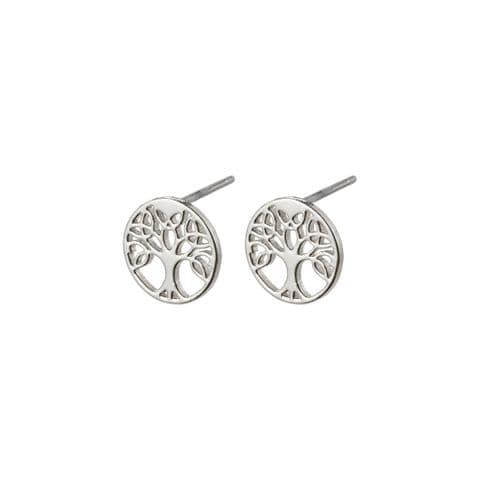 Pilgrim Georgina Tree of Life Silver Plated Earrings