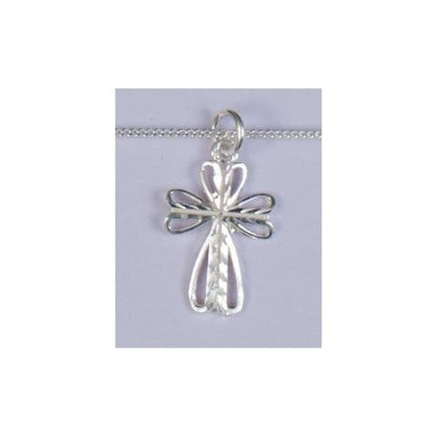 STERLING SILVER BUTTERFLY CROSS AND NECKLET