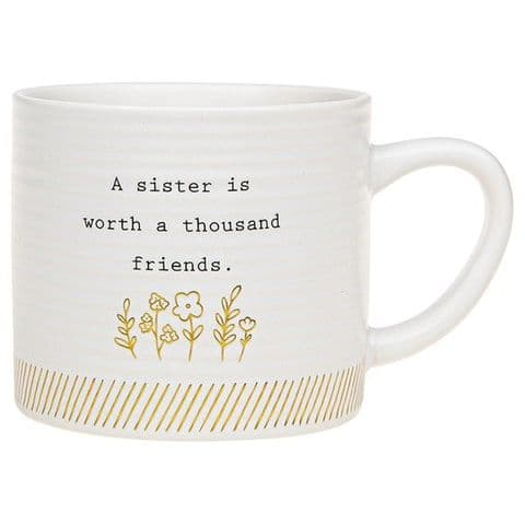 Thoughtful Words Mug Sister