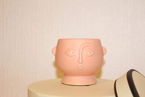 Pink Abstract Face Planter