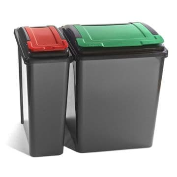 25lt  & 50lt Recycling Bins with lift up lid