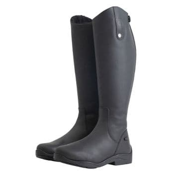 Mark Todd Fleece Lined Tall Winter Boot Black - Wide Fit