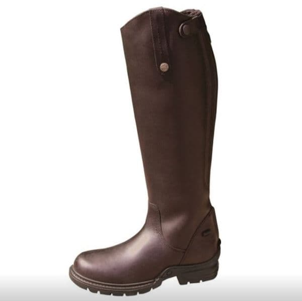 Mark Todd Fleece Lined Tall Winter Boot Brown - Wide Fit