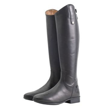 Mark Todd Leather Riding Boots Short Black - Wide Calf