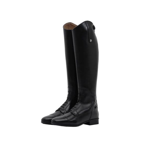 Mark Todd Long Leather Field Boots Black - Slim