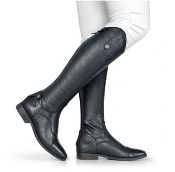 Brogini Casperia V2 Long Black Plain Front Riding Boots