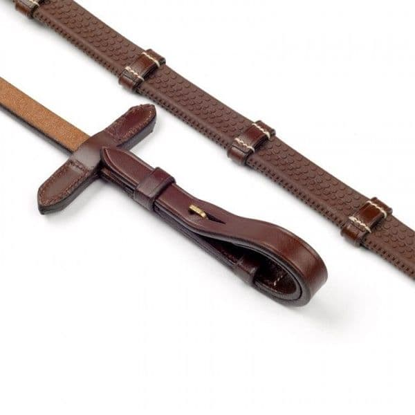 John Whitaker 9 Looped Rubber and Leather Reins