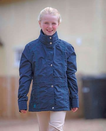 Mark Todd Kids Padded Waterproof Jacket - Navy/Aqua