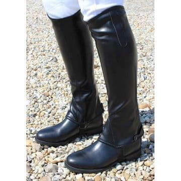 Mark Todd Synthetic Stretch Half Chaps - Black