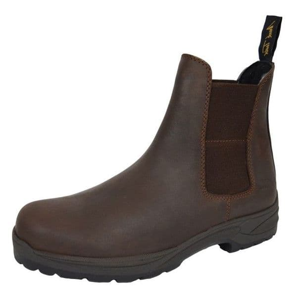 Mark Todd Waterproof Kiwi Short Work Boots - Brown