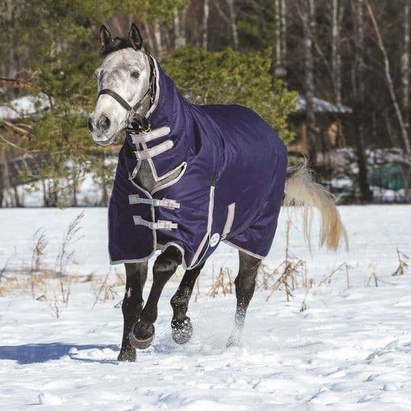 Weatherbeeta Comfitec Essential Combo Neck Heavyweight Turnout Rug Navy/Silver/Red