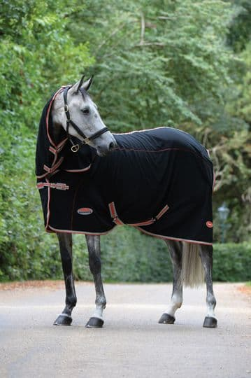 Weatherbeeta Therapy-Tec Fleece Combo Neck Therapy Rug Black/Silver/Red