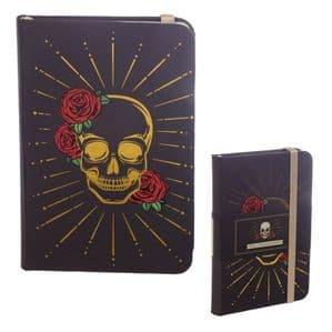 Skull With Roses Notebook