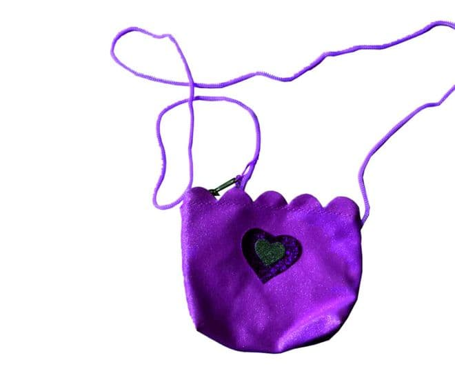 Kids Glitter Bag With Long Cord Purse
