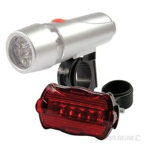 Bicycle Lights 2 piece - 5-LED front and rear lamps 912132