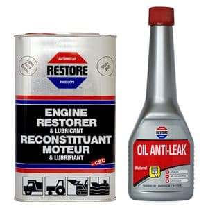 COMBINED OFFER! Ametech RESTORE Oil and Anti-Leak (Stop Leak) for 4-5 litre engine