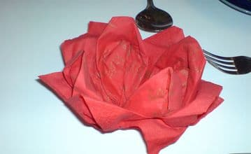 """100 pack 2 Ply Red Napkins 13"""" (100)"""