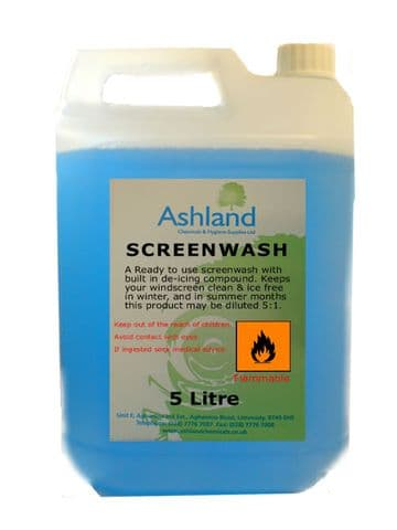 Windscreen Washer Fluid With De-Icer 5L