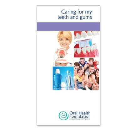'Caring for my teeth and gums' prestige booklets