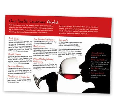 'Oral Health Conditions: Alcohol' Poster