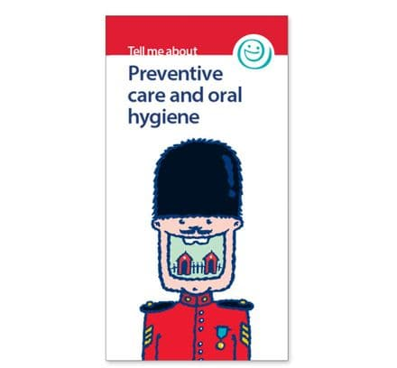 'Preventive care and oral hygiene' leaflets