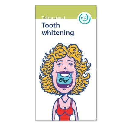 'Tooth whitening' leaflets