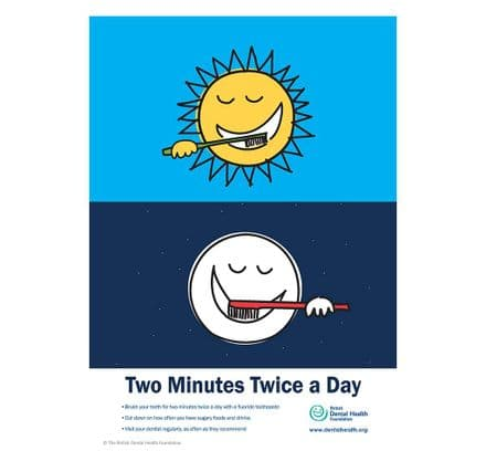 'Two Minutes Twice a Day' Poster