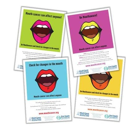 Mouth Cancer Action Poster Pack