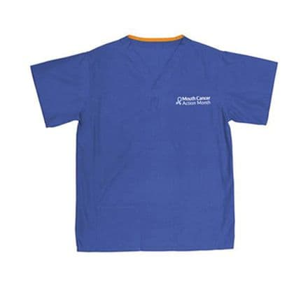 Mouth Cancer Action Scrub Top