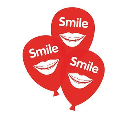 National Smile Month campaign balloons
