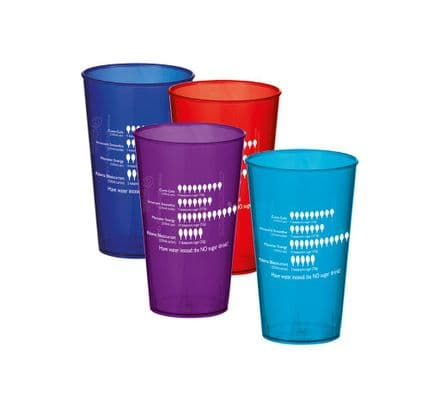 Reusable cups - promote water, the NO sugar drink