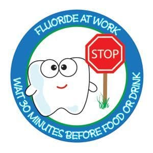 Stop! Fluoride At Work stickers