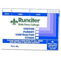 Branded Visitor Passes