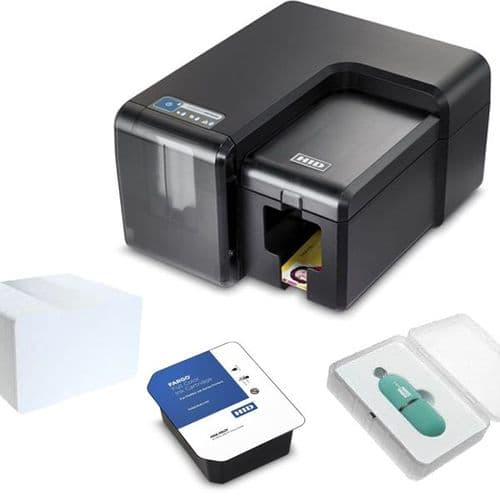 Fargo INK1000 ID Card Printing Bundle