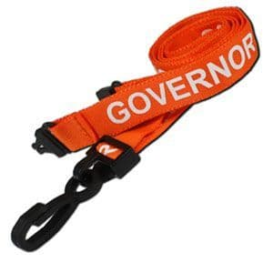 Governor Lanyards, Plastic Hook - 25 Pack