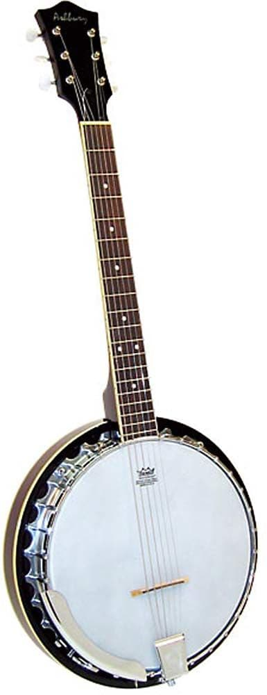 Ashbury GR39021  6 String Guitar Banjo mahogany, resonator.
