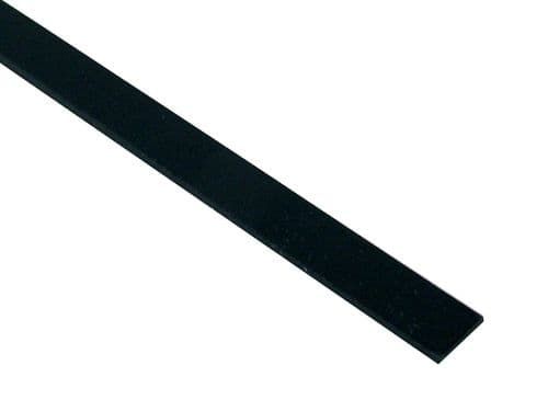 Musical Instrument Binding-Black Plastic in 6 sizes