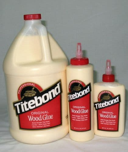 Titebond Original Wood Glue-8floz 237ml, 16floz 473mls, US gallon 3783mml.