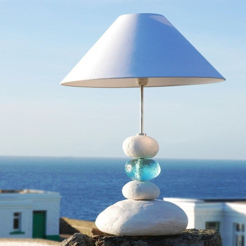Aquamarine Ocean Wave Table Lamp