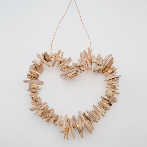 Driftwood Heart-Shaped Wreath