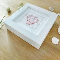 Embroidered Dotty Scallop Picture Pink | Stitched Picture | Charlotte Macey