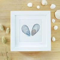 Embroidered Mussel Shell Picture   Stitched Picture   Charlotte Macey